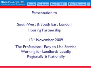 Presentation to South West & South East London  Housing Partnership