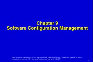 Chapter 9 Software Configuration Management