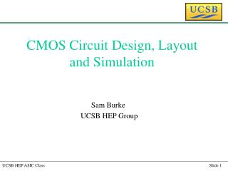 CMOS Circuit Design, Layout and Simulation