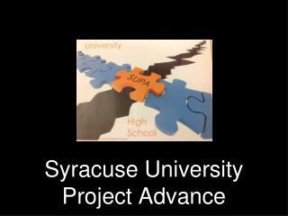 Syracuse University Project Advance