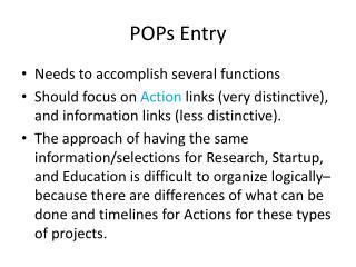 POPs Entry