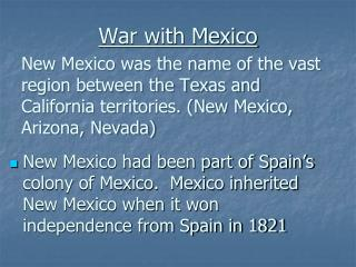 War with Mexico