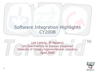 Software Integration Highlights CY2008