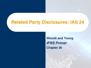 Related Party Disclosures: IAS 24