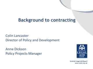 Background to contracting