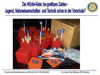 Die Würfel-Kiste: be-greifbare Zahlen -