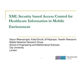 XML Security based Access Control for Healthcare Information in Mobile Environment