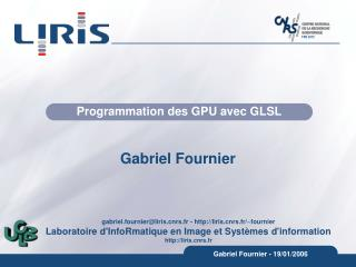 Programmation des GPU avec GLSL