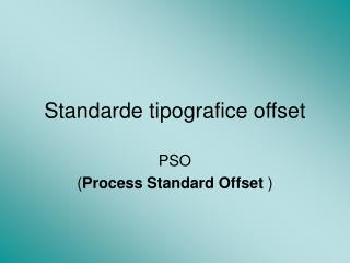 Standarde tipografice offset
