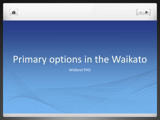 Primary options in the Waikato