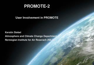 Kerstin Stebel Atmosphere and Climate Change Department