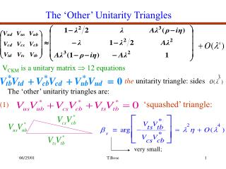 The 'Other' Unitarity Triangles