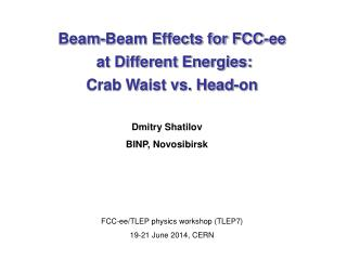 Beam-Beam Effects for FCC-ee  at Different Energies: Crab Waist vs. Head-on