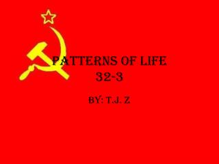Patterns of Life 32-3