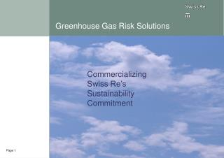 Greenhouse Gas Risk Solutions