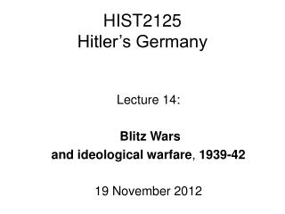 HIST2125 Hitler�s Germany