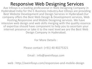 Responsive Web Designing Services | Mobile Web Designing Services