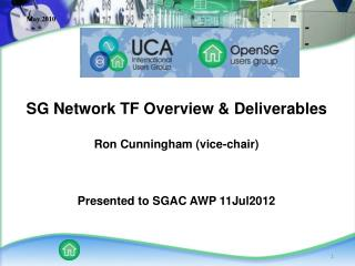 SG Network TF Overview & Deliverables Ron Cunningham (vice-chair) Presented to SGAC AWP 11Jul2012