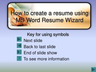 How to create a resume using MS Word Resume Wizard