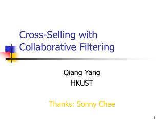 Cross-Selling with Collaborative Filtering