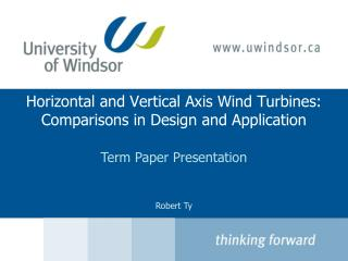 Horizontal and Vertical Axis Wind Turbines: Comparisons in Design and Application