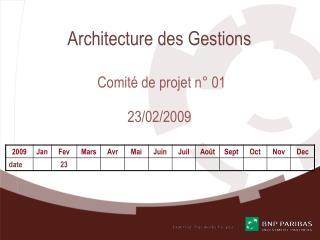 Architecture des Gestions Comité de projet n° 01 23/02/2009