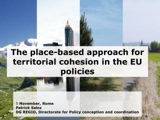 The place-based approach for territorial cohesion in the EU policies