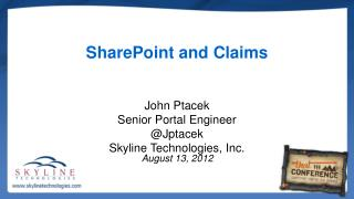 SharePoint and Claims