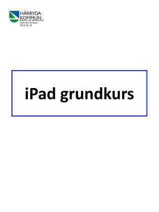 iPad grundkurs
