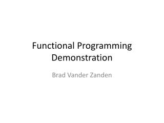 Functional Programming Demonstration