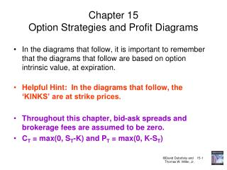 Chapter 15 Option Strategies and Profit Diagrams