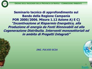 ING. FULVIO SCIA