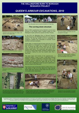 THE WALLINGFORD BURH TO BOROUGH  RESEARCH PROJECT QUEEN'S ARBOUR EXCAVATIONS, 2010
