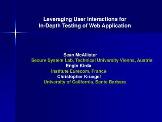 Leveraging User Interactions for