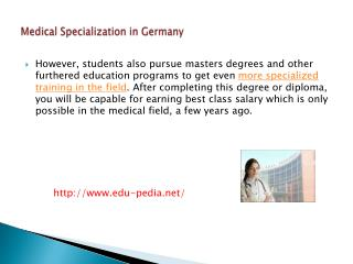Medical Specialization in Germany