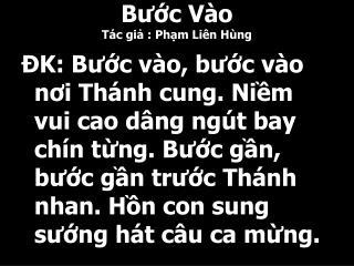 B??c V�o T�c gi? : Ph?m Li�n H�ng