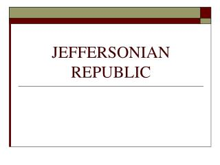 JEFFERSONIAN REPUBLIC