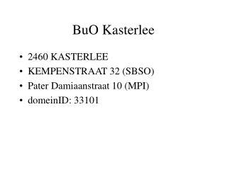 BuO Kasterlee