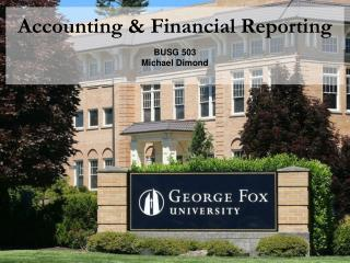 Accounting & Financial Reporting