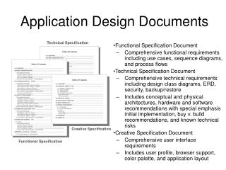 Application Design Documents