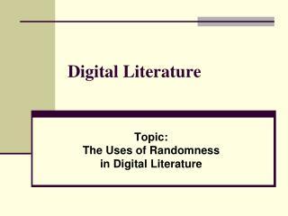 Digital Literature