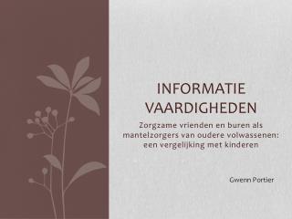 Informatie vaardigheden