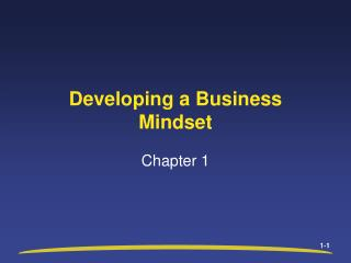 Developing a Business Mindset