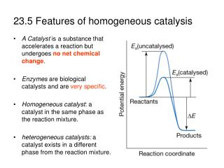 23.5 Features of homogeneous catalysis