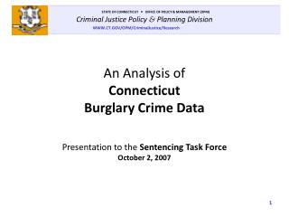 An Analysis of Connecticut Burglary Crime Data