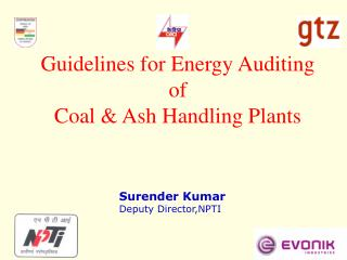 Guidelines for Energy Auditing  of Coal  Ash Handling Plants