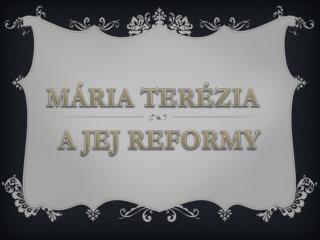 A JEJ REFORMY