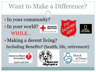 Want to Make a Difference?