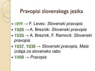 Pravopisi slovenskega  jezika