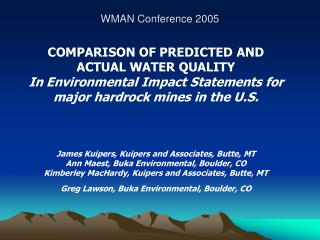 WMAN Conference 2005